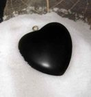 Obsidian Heart Energy Protection from Susana Sori at HR Shaman, close-up. Image copyright, 2010 by Susana Sori